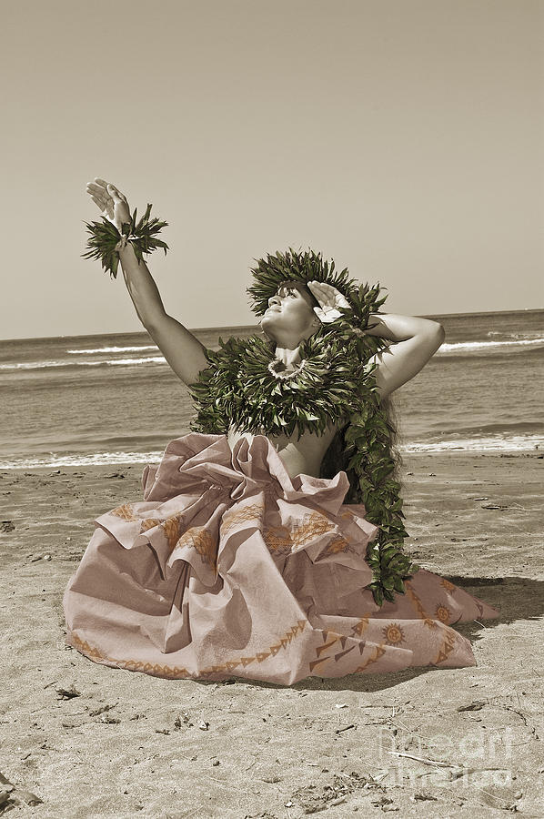 Afternoon Photograph - Hand Colored Hula by Himani - Printscapes