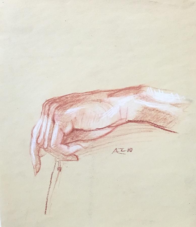 Hand study by Alejandro Lopez-Tasso