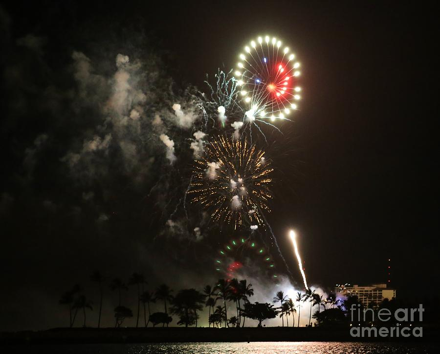 Fireworks Photograph - Happy Face by Craig Wood