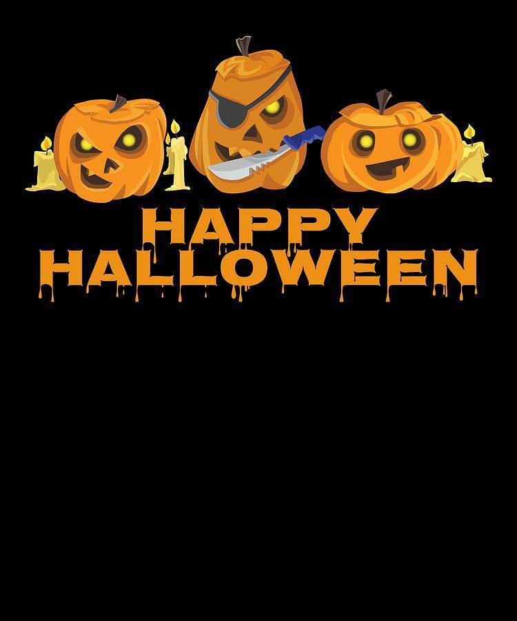 Happy Halloween Scary Jack O Lantern Pumpkins