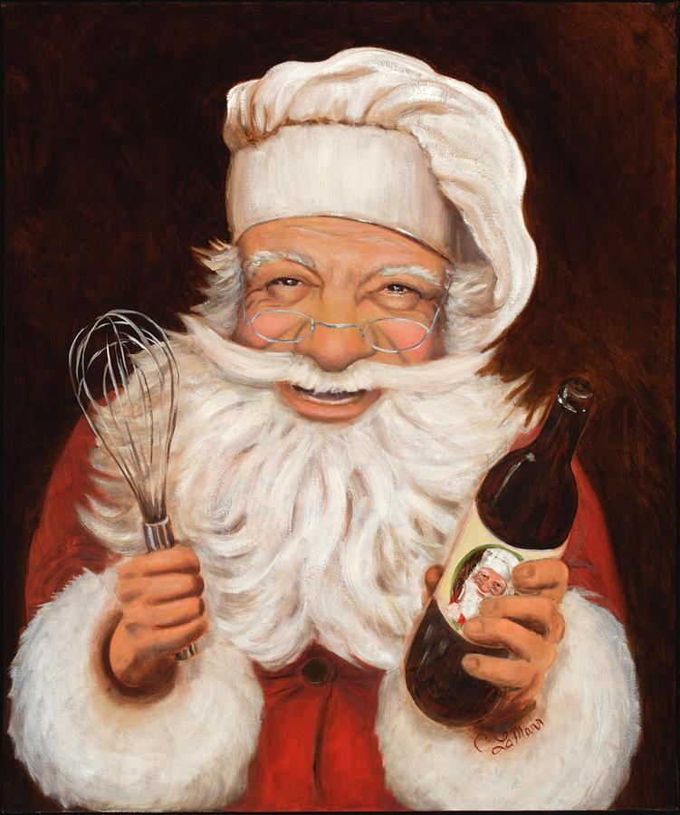 Santa Painting - Happy Hollandaise by Cherri Lamarr