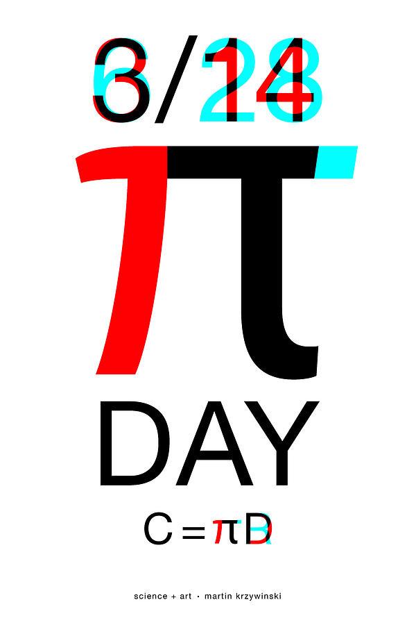 Pi Digital Art - Happy Tau and Pi Day by Martin Krzywinski