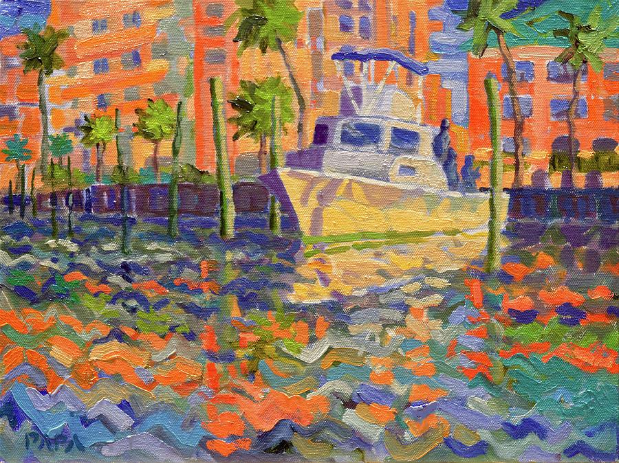 Boynton Painting - Harbor Marina by Ralph Papa