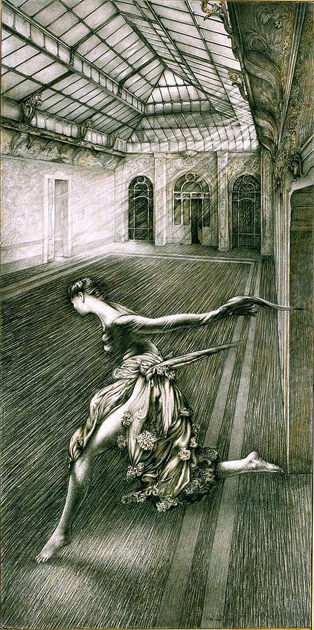 Dance Drawing - Haremomo by Momo Calascibetta