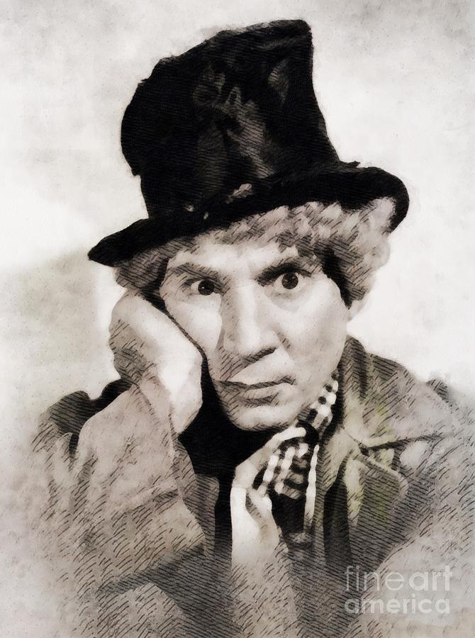 Harpo Marx, Vintage Hollywood Legend Painting