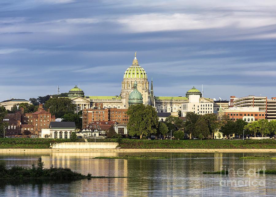 Harrisburg Photograph - Harrisburg Skyline by John Greim