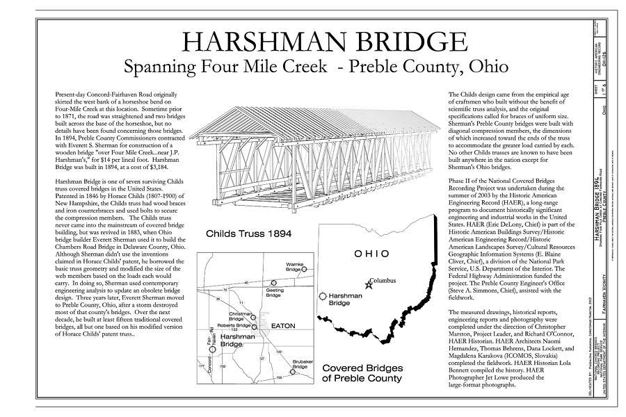 Harshman  Covered Bridge Photograph
