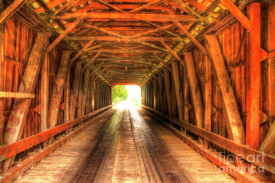 Covered Bridge Photograph - Harshman Covered Bridge by Paul Lindner