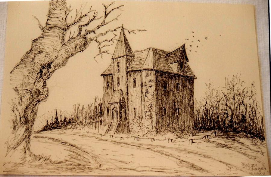 Haunted House Drawing By Bolivar Alves