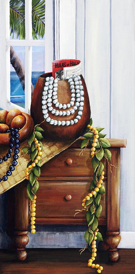 Acrylic Painting - Hawaiian Still Life Panel by Sandra Blazel - Printscapes