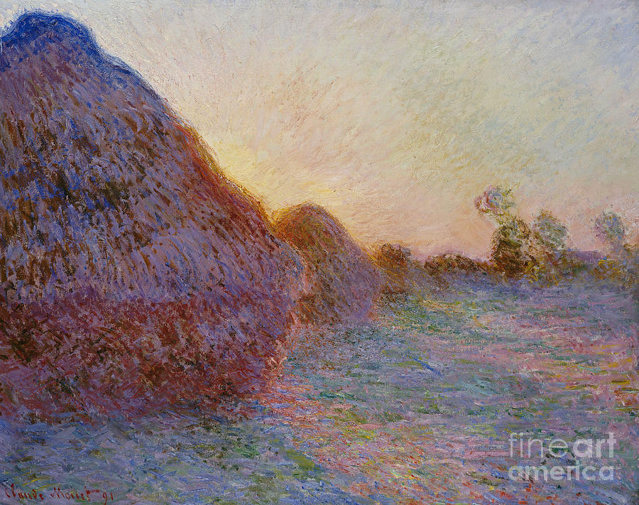 French Painting - Haystacks by Claude Monet