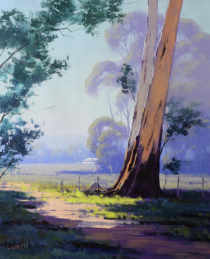 Hazy Light Landscape Painting