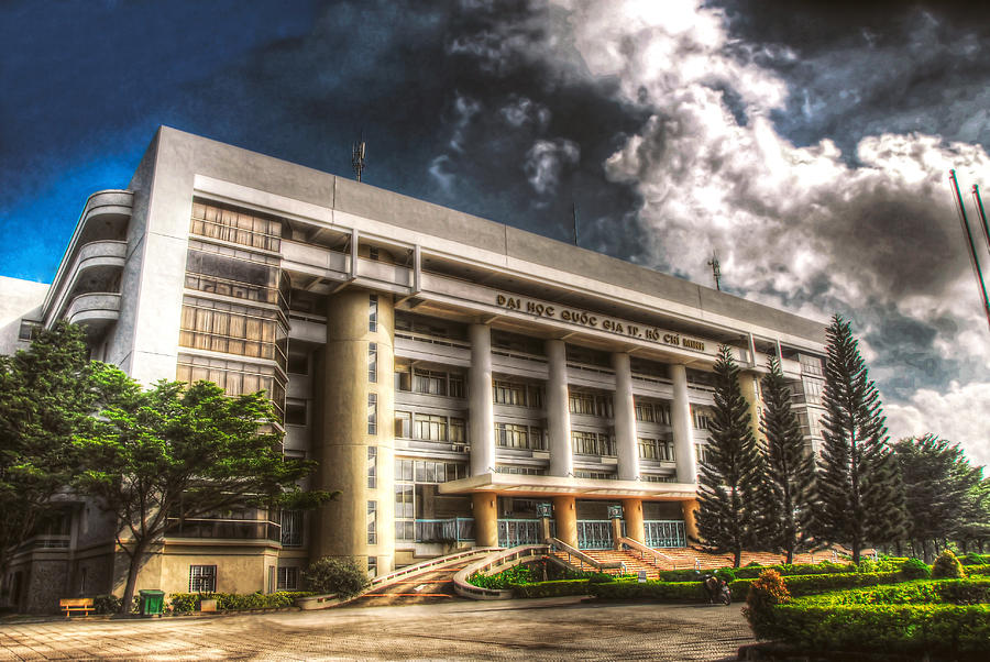 Hdr Photograph - Hdr Building by Nguyen Truc