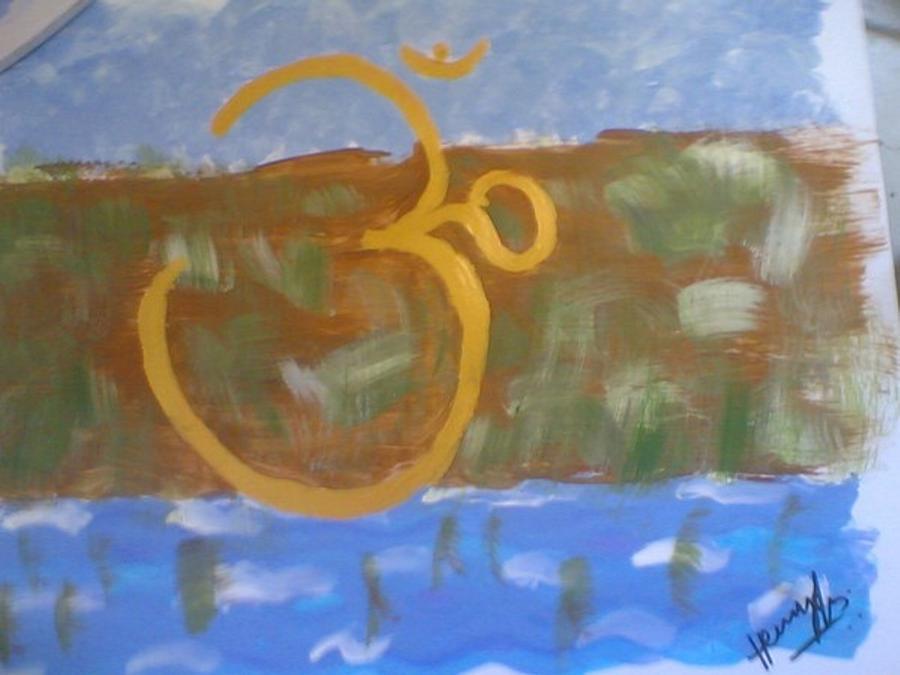 Omkar Painting - Hds-universal Om by Hema V Gopaluni