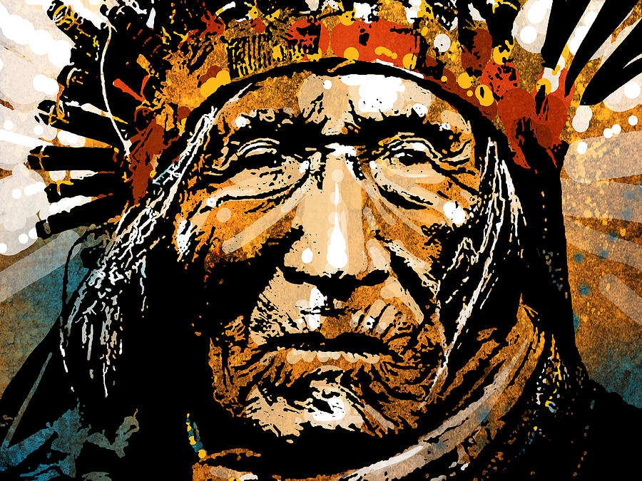 Native American Painting - He Dog by Paul Sachtleben