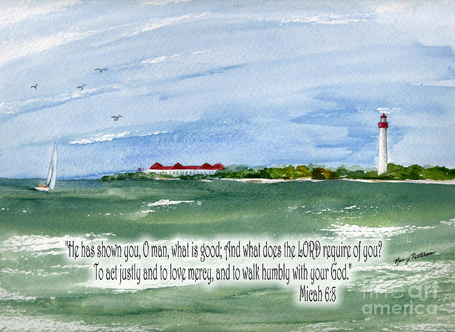 Micah 6:8 Painting - He Has Shown You What Is Good by Nancy Patterson