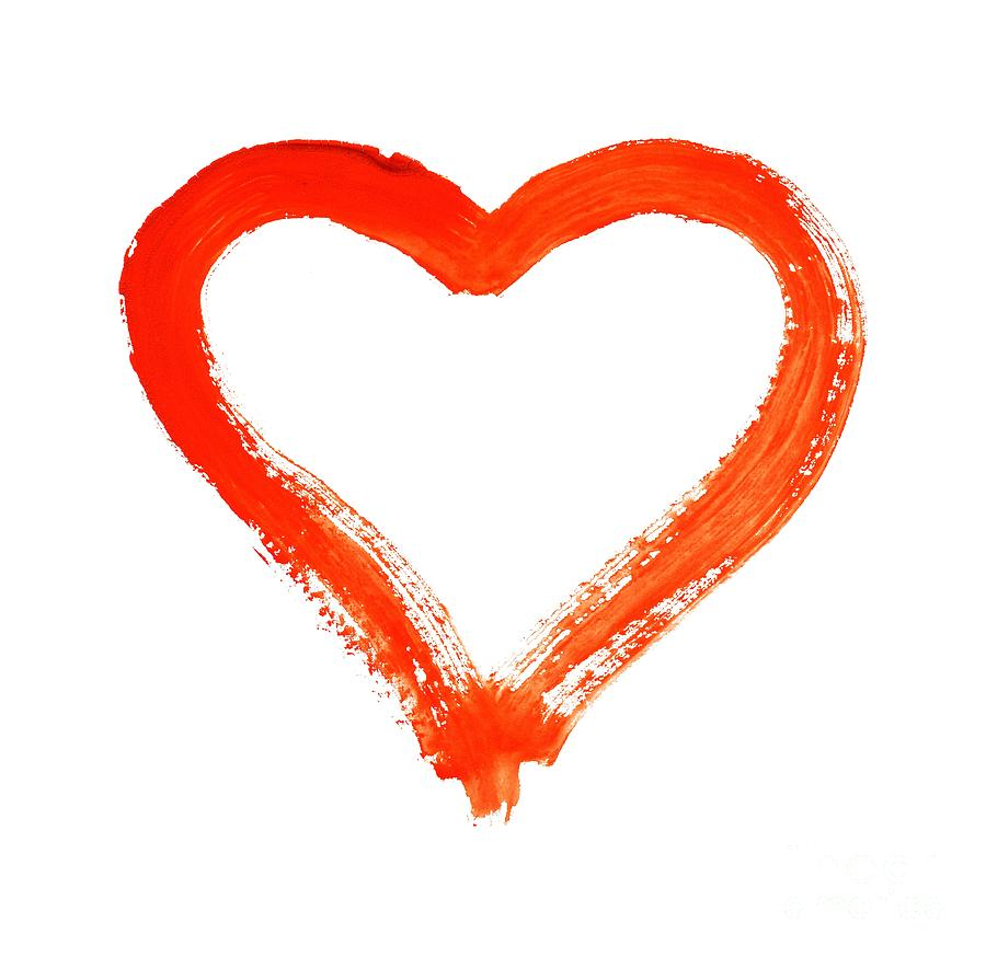 Heart Drawing - Heart - Symbol Of Love by Michal Boubin