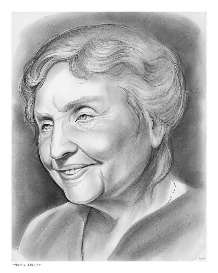 Helen Keller Drawing
