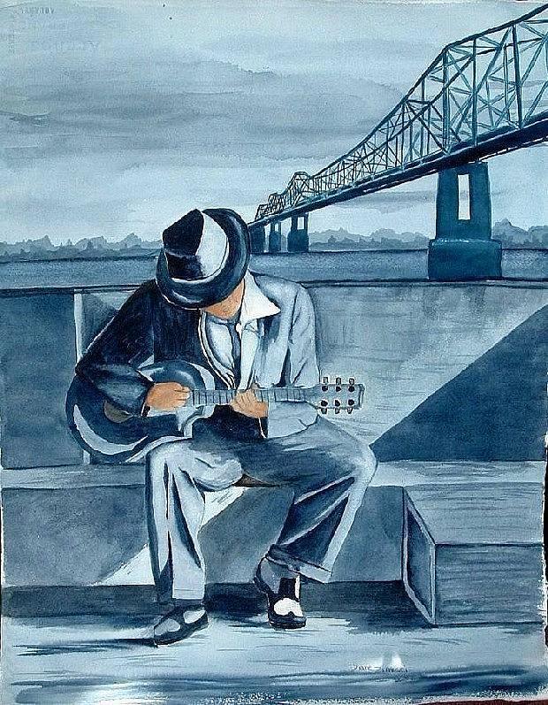 Blues Painting - Helena Blues by Diane Ziemski