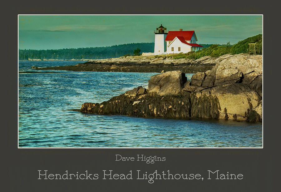 Maine Digital Art - Hendricks Head Lighthouse, Maine by Dave Higgins
