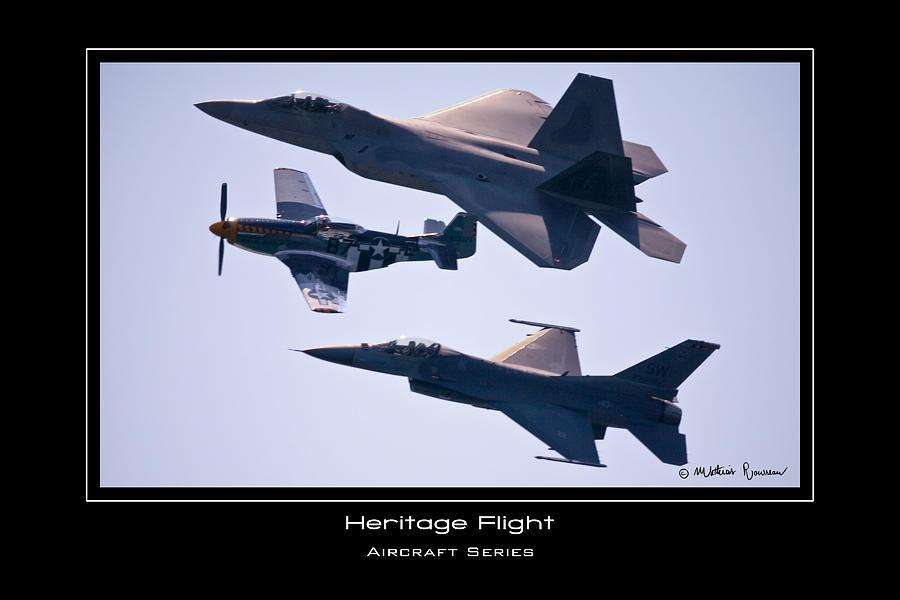 F-22 Photograph - Heritage Flight by Mathias Rousseau