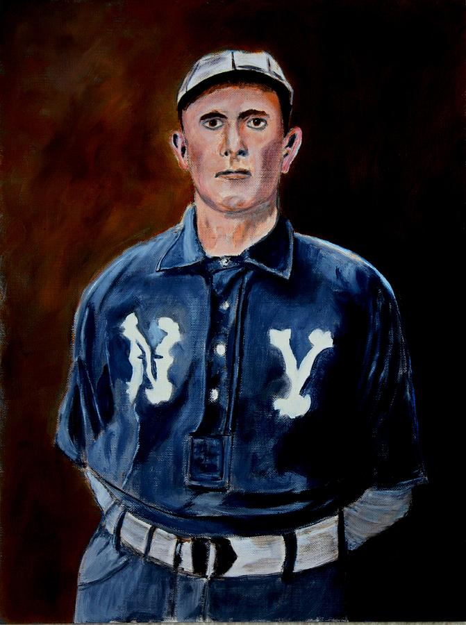 Baseball Painting - Herman Long by Ralph LeCompte