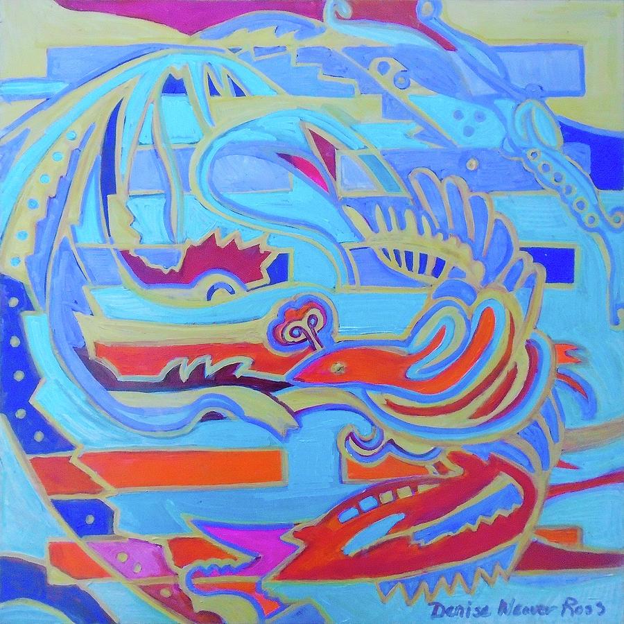 I Ching Painting - Hexagram 22-Pi by Denise Weaver Ross