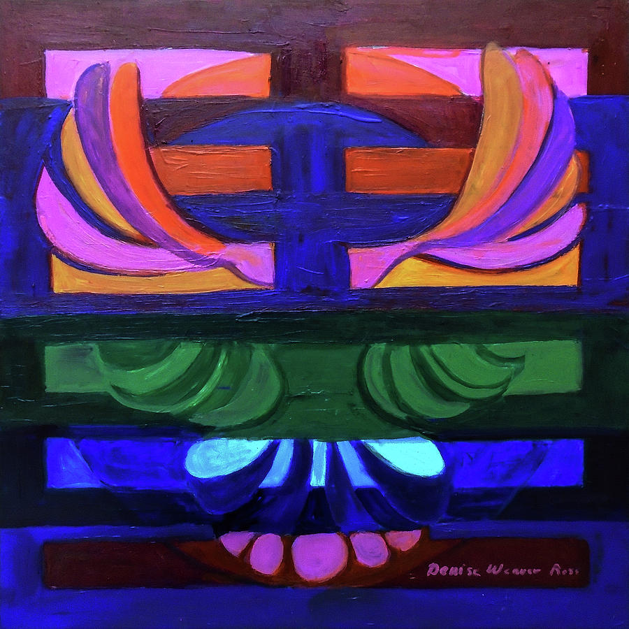 I Ching Painting - Hexagram Eleven - Tai by Denise Weaver Ross