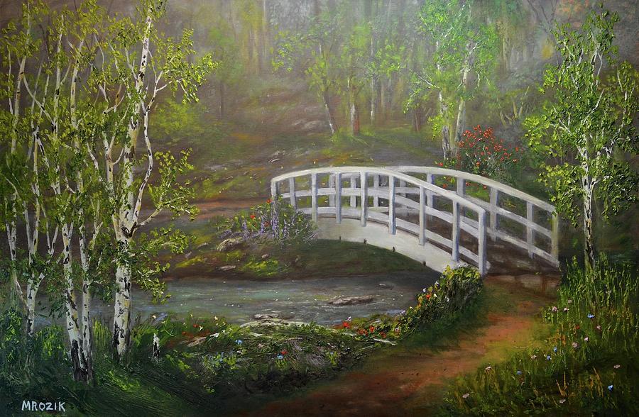 Bridge Painting - Hideaway by Michael Mrozik