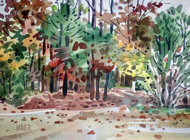 Autumn Foliage Painting - High Ridge Drive by Donald Maier