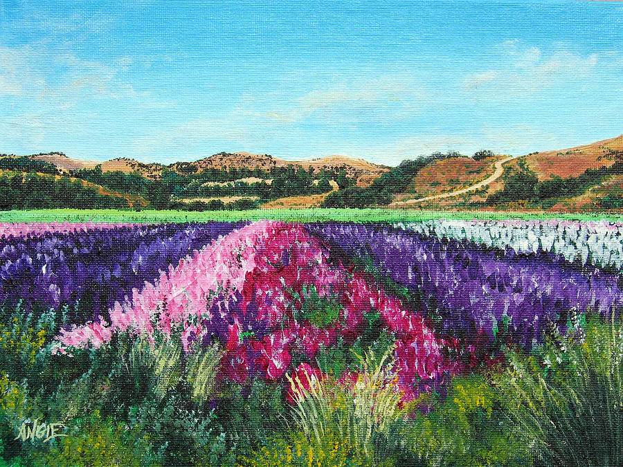 Flowers Painting - Highway 246 Flowers 3 by Angie Hamlin