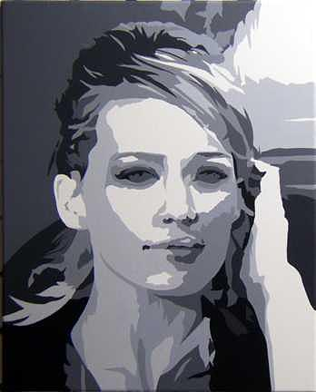 Music Painting - Hillary Duff Now Available by Michael James Toomy