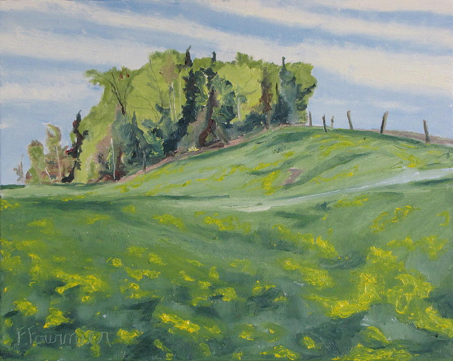 Hill Painting - Hills Forest And Dadelions  by Francois Fournier
