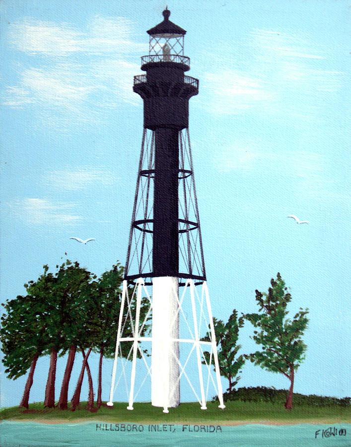 Lighthouses Painting - Hillsboro Inlet Lighthouse by Frederic Kohli