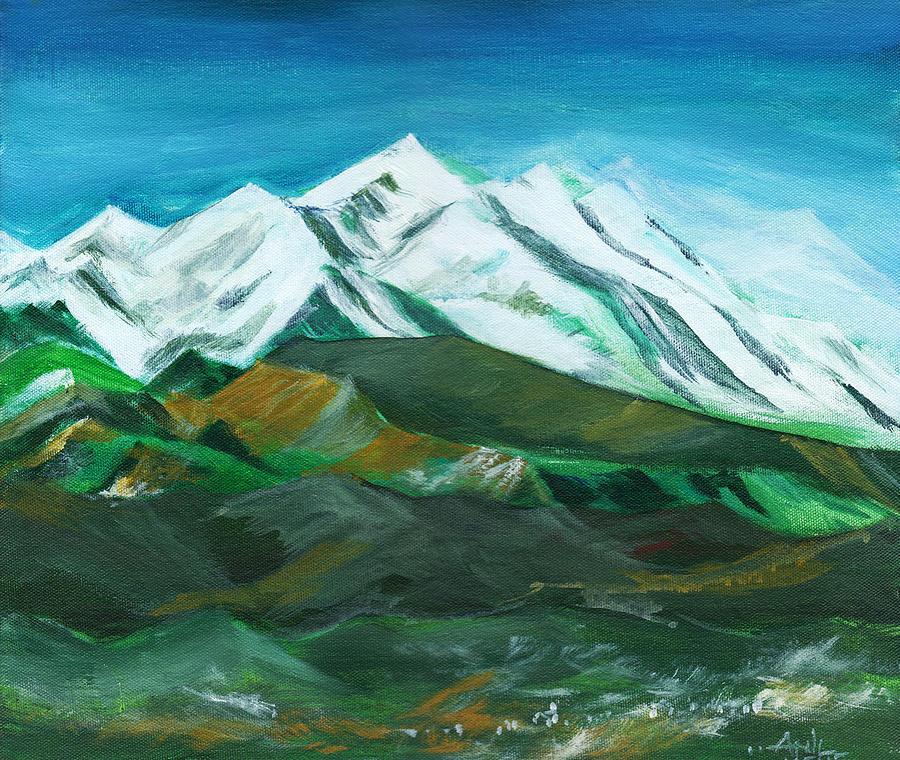 Nature Painting - Himalaya by Anil Nene