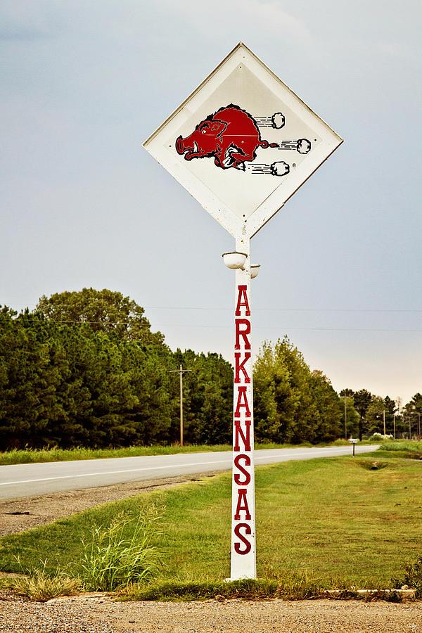 Razorback Photograph - Hog Sign by Scott Pellegrin