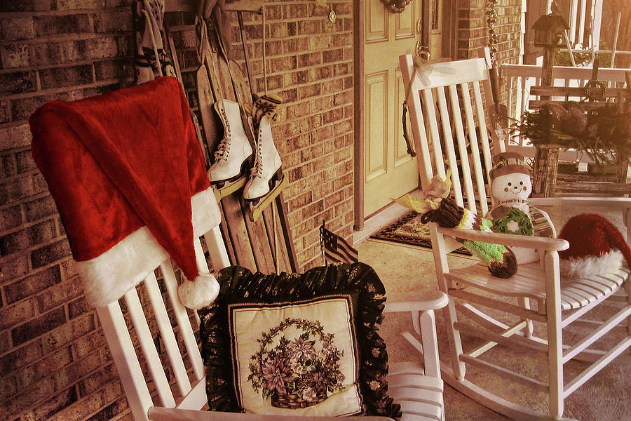 House Photograph - Holiday Porch Decorated by JAMART Photography