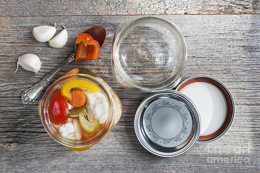 Preserving Photograph - Homemade Preserved Vegetables by Elena Elisseeva