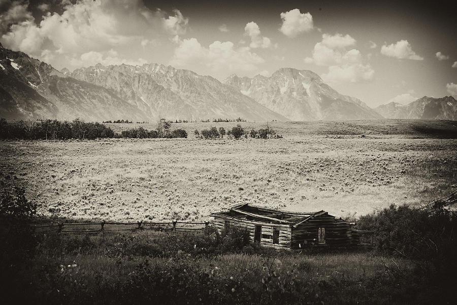 Signal Photograph - Homestead In The Grand Tetons by Hugh Smith