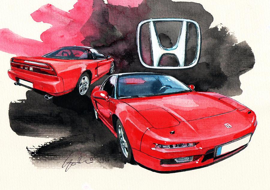 Honda Nsx Painting By Yoshiharu Miyakawa