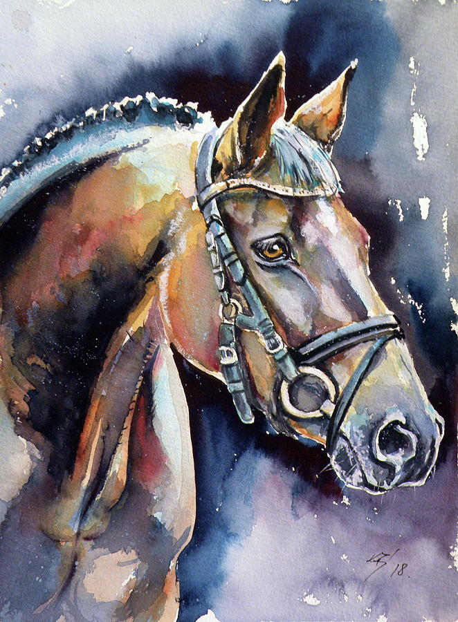 Horse Painting - Horse by Kovacs Anna Brigitta