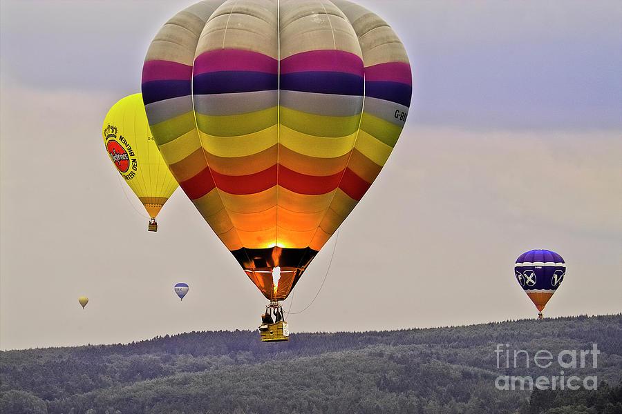 Europe Photograph - Hot-air Balloning by Heiko Koehrer-Wagner