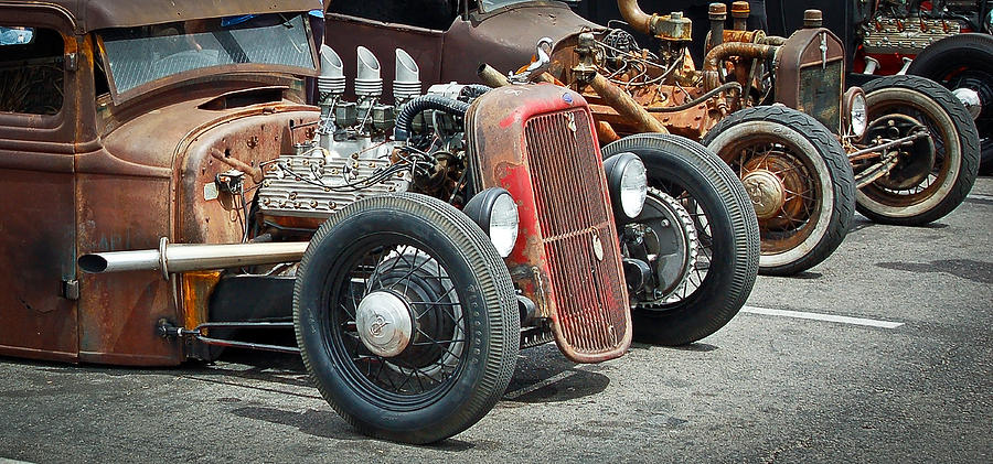 Hot Rods Photograph - Hot Rods by Steve McKinzie
