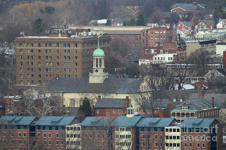 Hotel Bethlehem and Central Moravian Church by Ken Keener