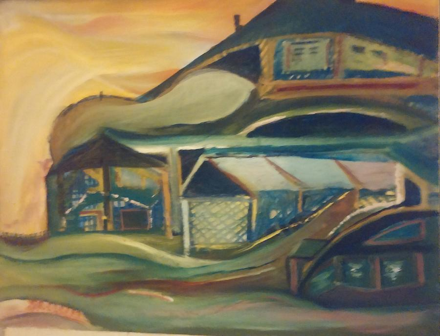 House On A Hill Painting by Gregory Dallum