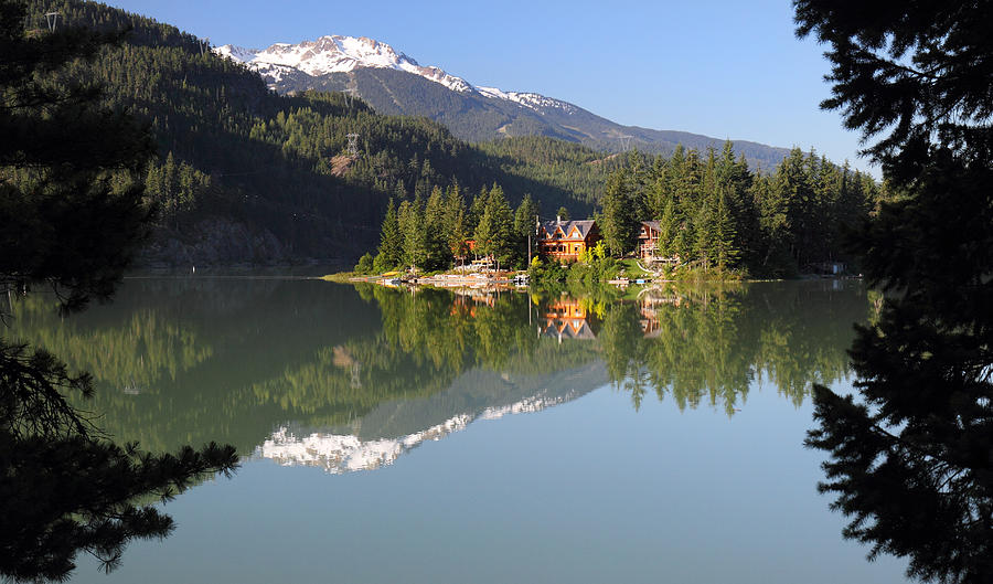 House Photograph - House On Green Lake Whistler B.c Canada by Pierre Leclerc Photography