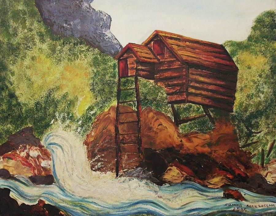 Home Painting - House On Stilts by Suzanne  Marie Leclair