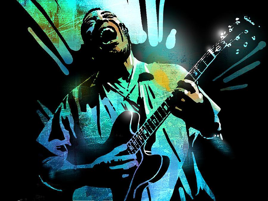 Blues Painting - Howlin Wolf by Paul Sachtleben