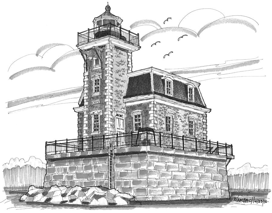 Hudson-Athens Lighthouse by Richard Wambach