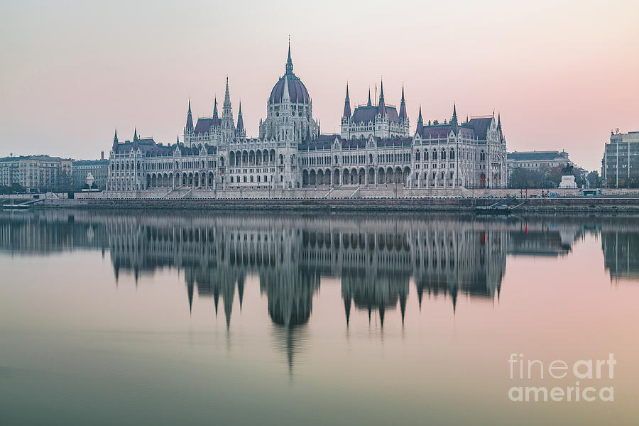 Copy Space Photograph - Hungarian Parliament In The Morning by Travel and Destinations - By Mike Clegg
